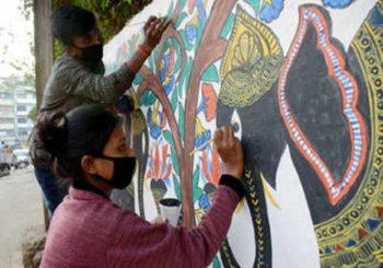 नीतीश सरकार दे रही है मिथिला पेंटिंग को बढ़ावा, राजधानी पटना की सजेंगी दीवारें