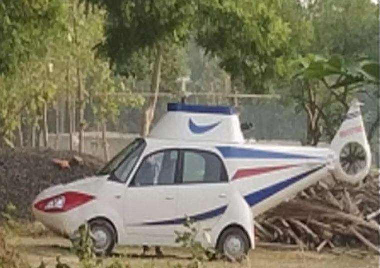 बिहार का ये युवक नहीं बन सका पायलट, टाटा नैनो कार को ही बना दिया हेलिकॉप्टर, पढ़े