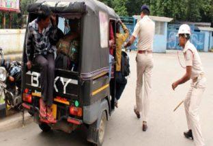 बिहार में सीट बेल्ट नहीं लगाने पर ऑटो ड्राइवर का हुआ चालान