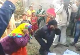 धर्म परिवर्तन कराने के आरोप में पति-पत्नि का मॉब लिंचिंग, शर्मनाक वीडियो वायरल